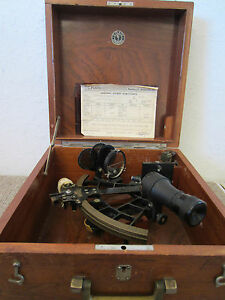 Vintage Navigational German Plath Sextant