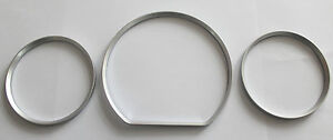 Mercedes W210 Facelift High Quality Snap On Silver Satin Color Gauges Rings
