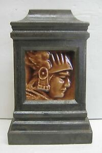Vintage Hamilton Tile Male Silhouette In Metal Architectural Piece
