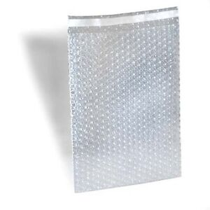 550 7 X 8 5 Clear Bubble Out Bags Protective Wrap Pouch Self Seal 7x8 5 Ez seal