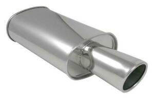 Vibrant 1042 Streetpower Oval Muffler 4 Round Angle Cut Tip 3 Inlet