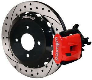 Wilwood Disc Brake Kit Rear Honda Civic 10211 12 Drilled Rotors Red Calipers
