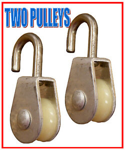 Two 2 Single Wheel Rope Wire Sheave Pulley aluminum Stainless Steel new