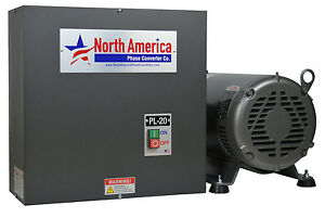 Pl 20 Pro line 20hp Rotary Phase Converter Built in Starter Made In Usa