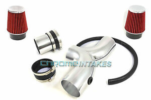 Black Red Dual 03 04 05 09 Dodge Ram Durango Aspen 5 7l V8 Hemi Twin Air Intake