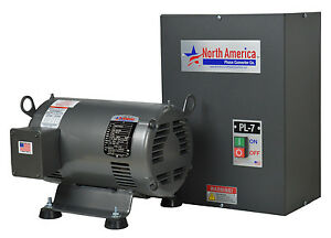 Pl 7 Pro line 7 5hp Rotary Phase Converter Built in Starter Made In Usa