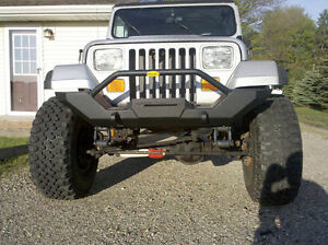 1987 1995 Jeep Wrangler Yj Black Extreme Rock Crawler Front Bumper