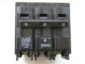 Siemens B350 3p 50a 240v Type Bl Circuit Breaker lot Of 2 New 1yr Warranty