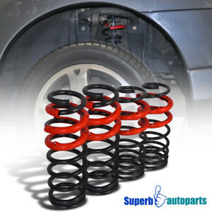 For 1992 1995 Civic 1993 1997 Del Sol Drop Lowering Spring Springs Black red