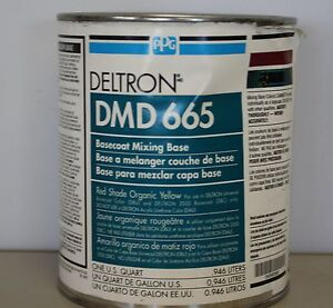 Ppg Deltron Dmd 665 Red Shade Organic Yellow Universal Mix Toner Paint Toner Qt