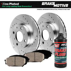Front Drill And Slot Brake Rotors Ceramic Pads For Chevy Cobalt Saturn Ion G5