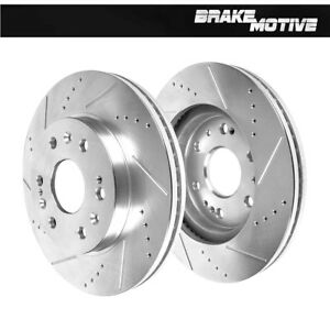 Front Drill And Slot Brake Rotors For Chevy Cadillac Gmc 4wd 2wd