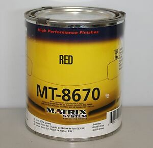 Matrix Mt8670 867j Red Mixing Base Toner Dupont Replace Paint Toner Qt