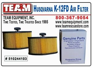 Qty 2 Air Filters For Husqvarna K970 Cutoff Saw K970 Ring Saw And K970 Chainsaw