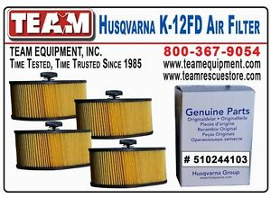 Qty 4 Air Filters For Husqvarna K970 Cutoff Saw K970 Ring Saw And K970 Chainsaw