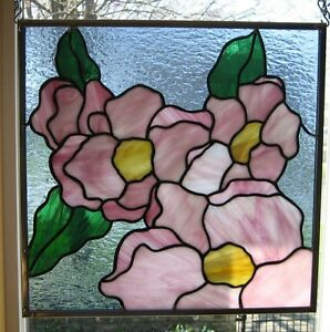 Flower Blossoms Stained Glass Window Panel Ebsq Artist