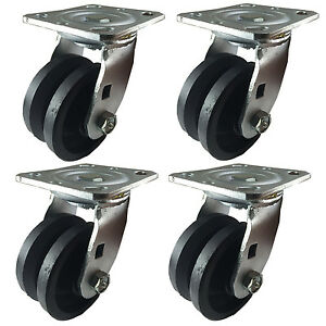 4 X 2 V groove Caster 4 Swivels