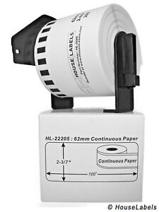 12 Rolls Of Dk 2205 Brother compatible Labels With 1 Reusable Cartridge Spool