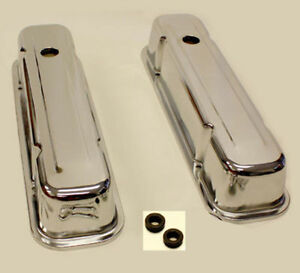 Pontiac Tall Valve Covers 59 79 326 455 Chrome