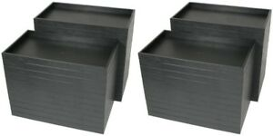 Wholesale 60 Black Stackable Utility Display Storage Trays 14 3 4 X 8 1 4 X 1