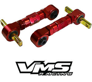 Vms Rear Billet Adjustable Camber Arms Kit 88 00 Civic Crx 90 01 Integra Red