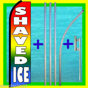 Shaved Ice Swooper Flag 15 Tall Pole Mount Feather Flutter Bow Banner
