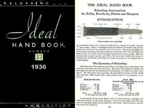 Ideal 1936 Hand Book No. 32 - Ammunition & Reloading
