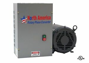 3hp Ul listed Rotary Phase Converter Ul 3 New Made In Usa Baldor Generator