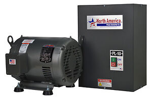 Pl 10 Pro line 10hp Rotary Phase Converter Built in Starter Made In Usa