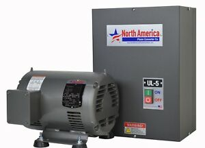 Ul 5 Pro line 5hp Ul Listed Rotary Phase Converter New Made In Usa