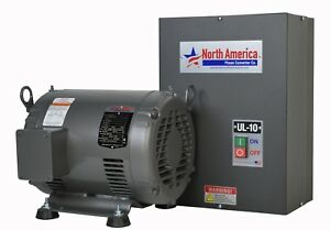 Ul 10 Pro line 10hp Ul Listed Rotary Phase Converter New Made In Usa