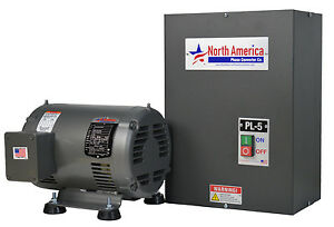 Pl 5 Pro line 5hp Rotary Phase Converter Built in Starter Made In Usa
