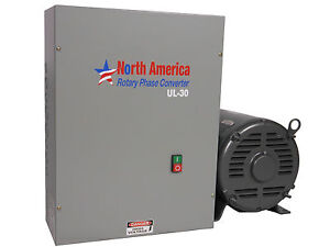 Ul 30 Pro line 30hp Ul Listed Rotary Phase Converter New Made In Usa