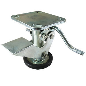 4 Floor Locks Brake With Non slip Rubber Foot For 4 X 2 Casters 1 Ea