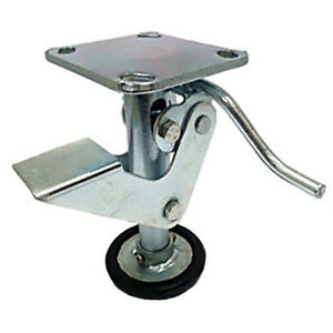 6 Floor Locks Brake With Non slip Rubber Foot For 6 X 2 Casters 1 Ea