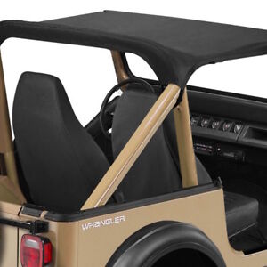 1987 1991 Jeep Wrangler Bikini Bimini Top In Black Denim