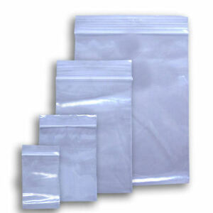 Ziplock Clear Reclosable Poly Jewelry Bags 2mil 4mil 25 100 250 500 1000
