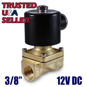 3 8 12v Dc Electric Brass Solenoid Valve Water Gas Air 12 Vdc Free Shipping