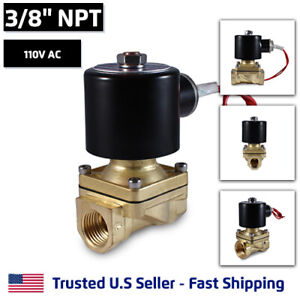3 8 110v Ac Electric Brass Solenoid Valve Water Gas Air 110 Vac Free Shipping
