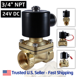 3 4 24v Dc Electric Brass Solenoid Valve Water Gas Air 24 Vdc Free Shipping