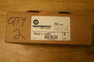 40ce1 1000 Allen Bradley Light Source 110v Photoswitch Nib price Is For Lot Of 2