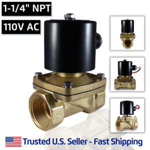 1 1 4 110v Ac Electric Brass Solenoid Valve Water Air 110 Vac Free Shipping