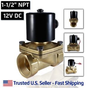 1 1 2 12v Dc Electric Brass Solenoid Valve Water Air Gas 12 Vdc Free Shipping