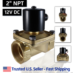 2 Inch 12v Dc Brass Electric Solenoid Valve 12 Volt Vdc Free Shipping
