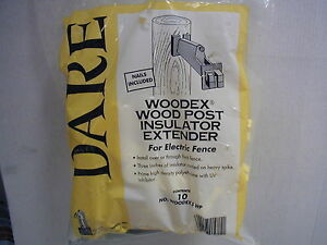 Dare Woodex Wood Post Extender Insulator For Electric Fence 10pk Wood Post
