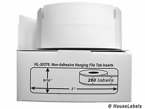 10 Rolls Of 260 Hanging File Tab Inserts For Dymo Labelwriters 30376