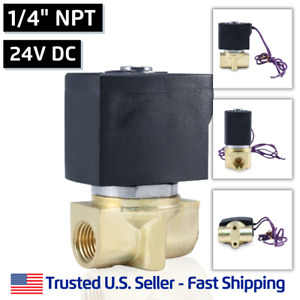 1 4 24v Dc Electric Brass Solenoid Valve Water Air 24 Volt Vdc Free Shipping