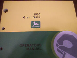 John Deere Tractor Operator s Manual1560 Grain Drills Issue F8