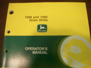 John Deere Tractor Operator s Manual 1560 And 1565 Grain Drills Issue D9