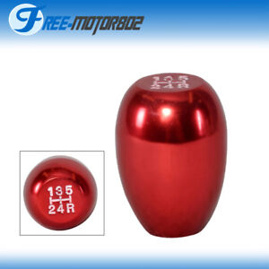 Red Jdm Type R Style Manual 5 Speed Gear Shift Knob For Acura And Honda